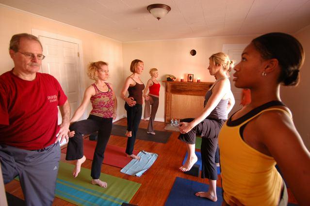 Urban Bliss Yoga class in Cornelius, NC
