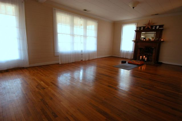 Main Yoga room at Urban Bliss in Cornelius