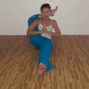 Kendall Yoga Teacher Trainer Liz Nepomuceno with Urban Bliss Yoga