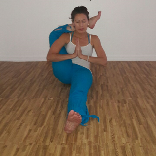 Kendall Yoga Teacher Trainer Liz Nepomuceno with Urban Bliss Yoga