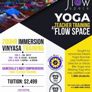 Gainesville Yoga Teacher Training flier