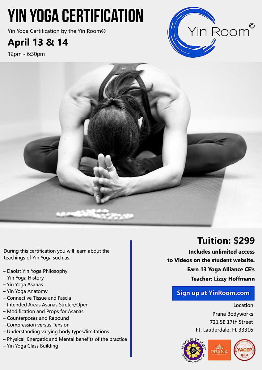 Ft. Lauderdale Yin Yoga Certification
