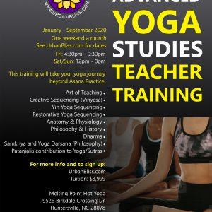 300 hour Yoga Teacher Training in Huntersville, NC