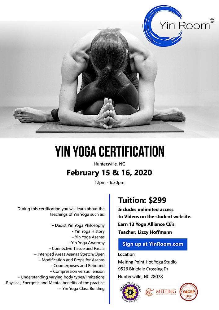Yin Yoga Certification in Huntersville, NC