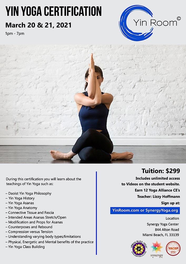 MIami Beach Yin Yoga Certification